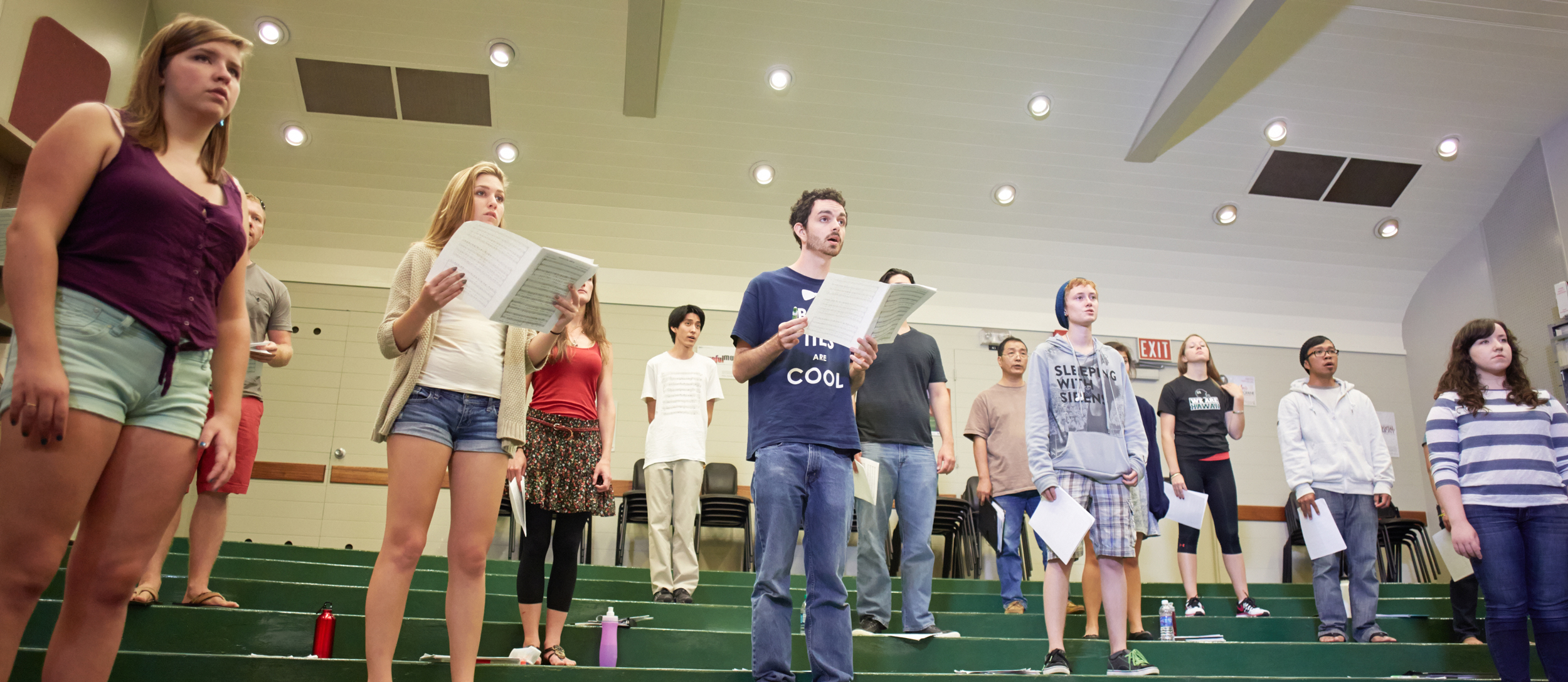 UH Chamber Singers in rehearsal;