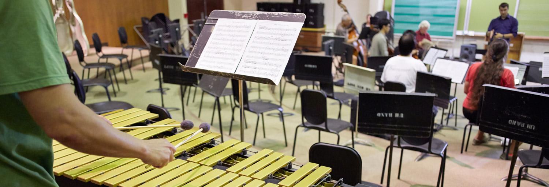 A Contemporary Music Ensemble rehearsal