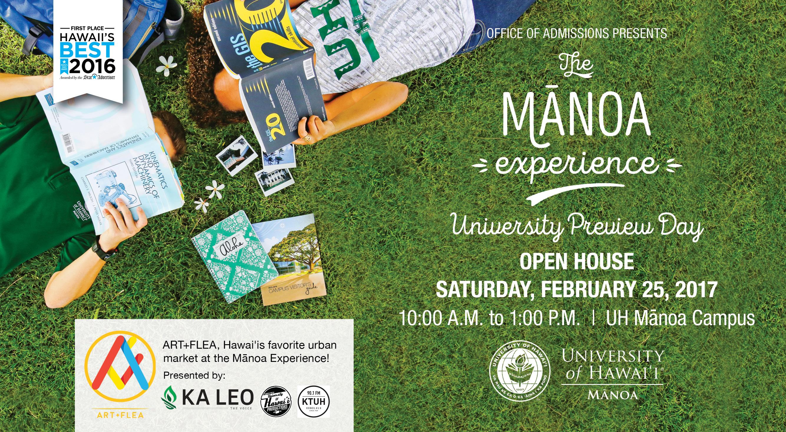 The Public Is Invited To The Mānoa Experience   University Preview Day On  Saturday, February 25, 2017, From 10 A.m. To 1 P.m. At The University Of  Hawaiu0027i ...