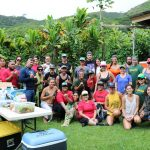 EA Hawaii Field School students posing for a picture at Kapuna Farms