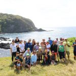 Students pose for a picture in Kaupo