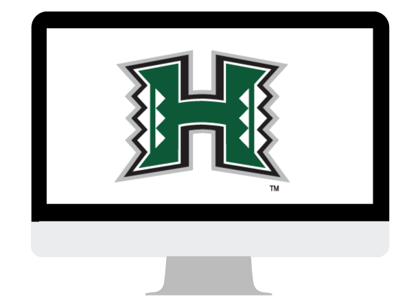 PC with University of Hawaii icon