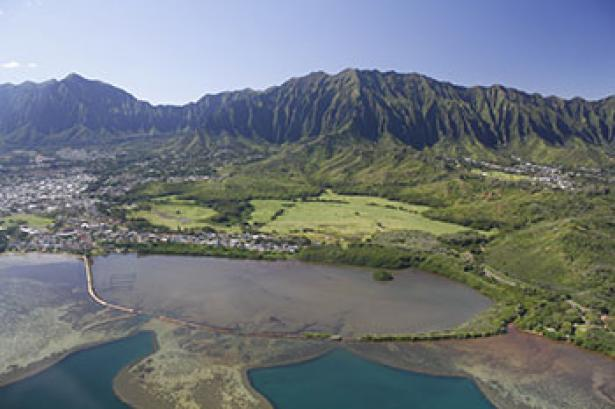 <p>Fig. 1. The Heʻeia fishpond is 88 acres that was built 600-800 years ago.</p><br />