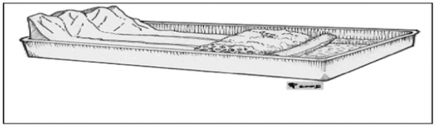 <p>Fig. 2. Students build a model of a wetland and explore itsʻ structure and function.</p><br />