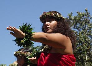 <p>Fig. 1. Hula is an important tradition of communication.</p>
