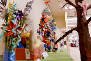 "<p>Fig. 5.&nbsp;A Recycled Art Contest at Yokota Air Base, Japan in 2015 spanned Earth Week's theme of ""reduce, reuse, recycle."" Artworks were composed of bits of plastic, discarded bottle caps, pieces of cardboard, styrofoam, old toys, bottles and more recycled materials.</p><br />"