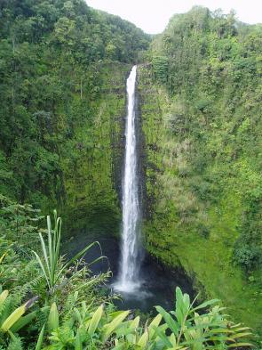 <p>Fig. 1. Waterfalls in Hawai'i help to cycle matter as part of a bigger ecosystem.</p>