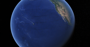 <p>Fig. 3. The view of Hawaii from space shows the abundance of water on Earth.</p>