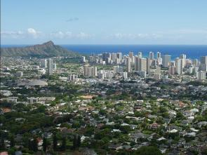<p>Fig. 1. Everything in this cityscape of Honolulu, Hawai'i is made of matter!</p>