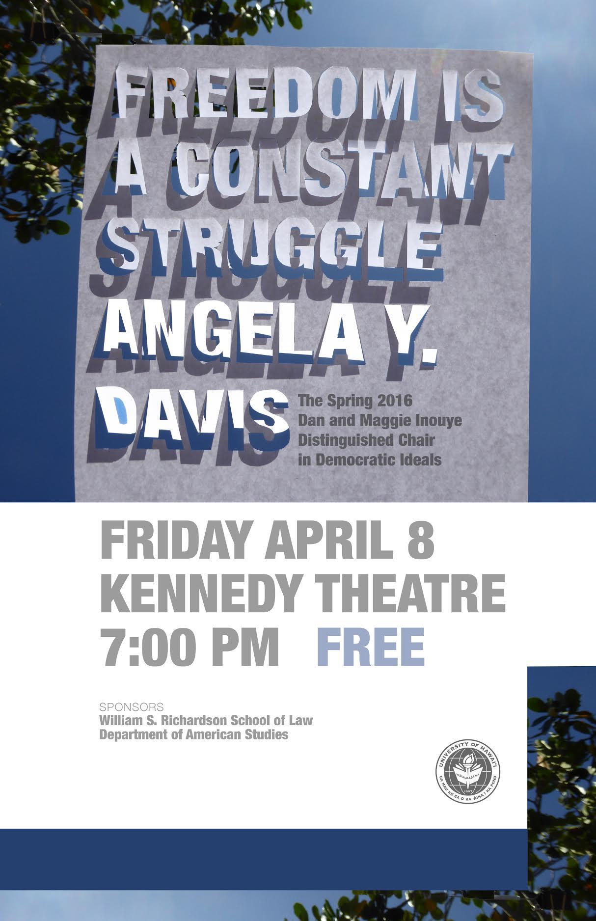 Angela Davis KEYNOTE poster