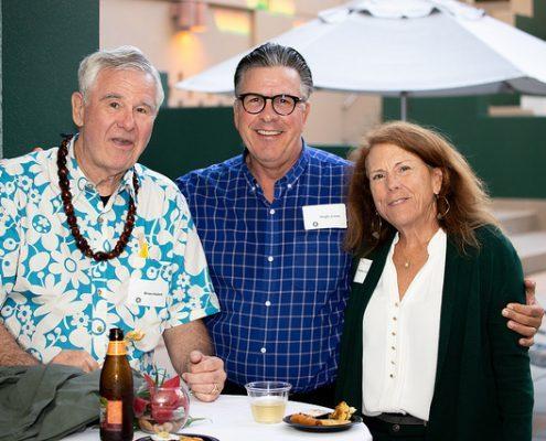 Hugh Jones with guests