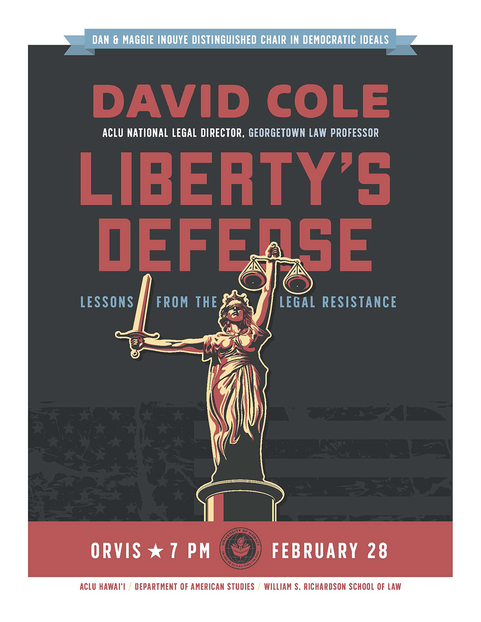 David Cole, Liberty's Defense Poster
