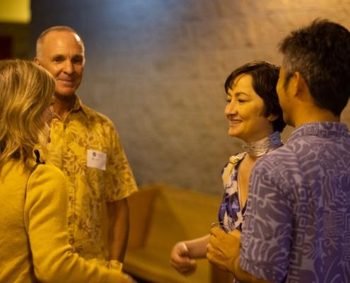 Lita Proctor reception conversing guests