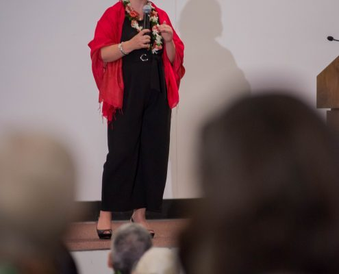 Marielena Hincapie lecturing