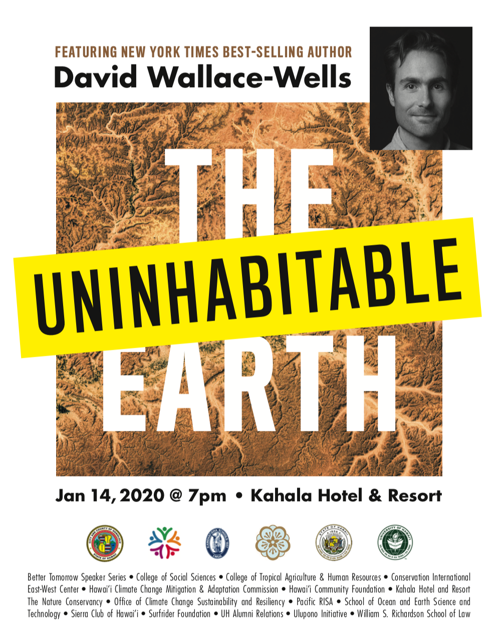 poster for david wallace wells presentation