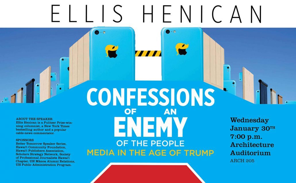 Ellis Henican Poster for the event.
