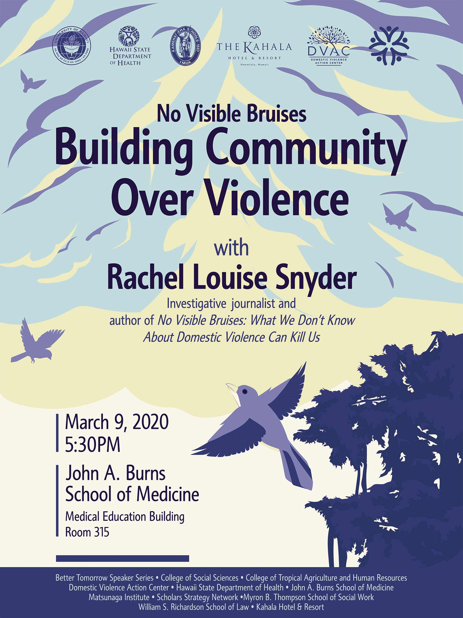 Rachel Louise Snyder Poster graphic