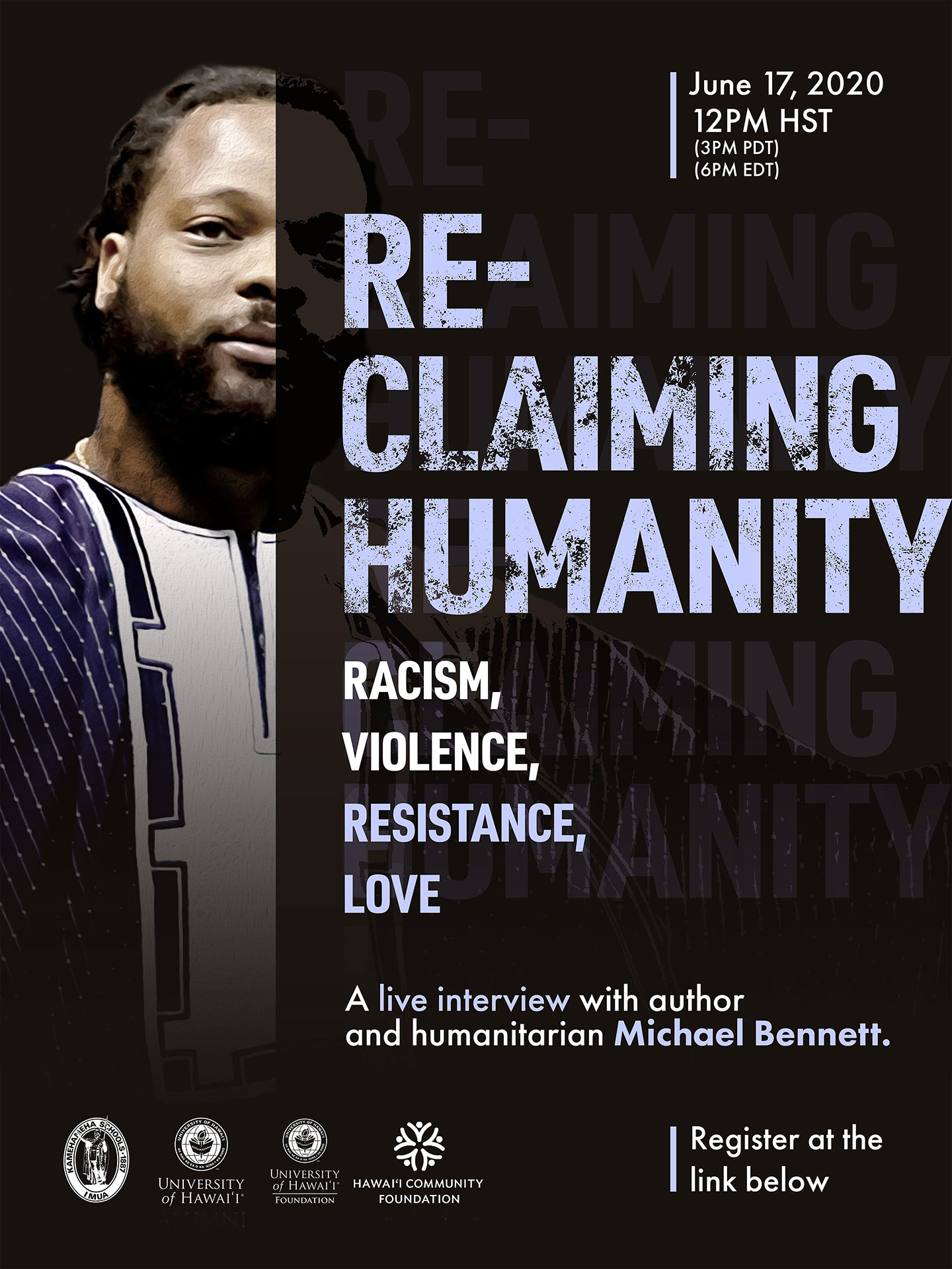 Reclaiming Humanity Poster graphic