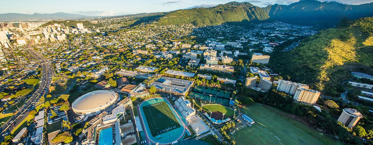 Aerial Shot Of Manoa Campus