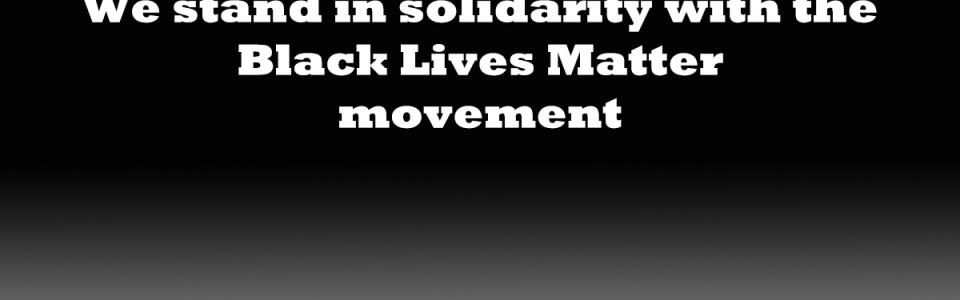 We stand in solidarity with the Black Lives Matter movement image