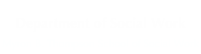 Department of Social Work logo