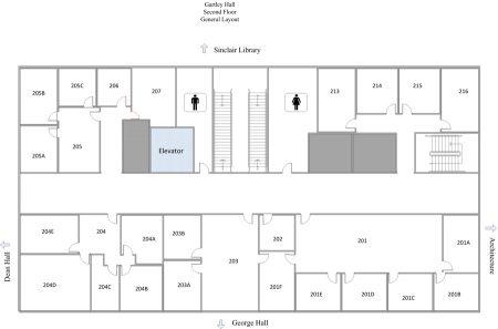 Myron B. Thompson School of Social Work Maps 2nd Floor