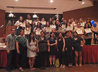 New Inductees With Nu Sigma Chapter Officers