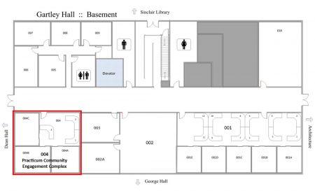 Gartley Hall - Practicum Community Engagement Complex Map