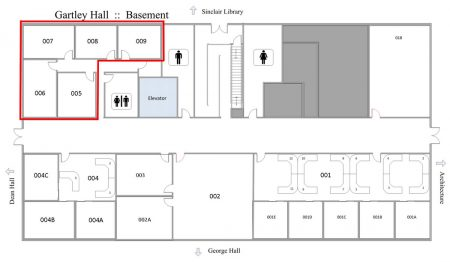 Gartley Hall - Faculty Offices Map