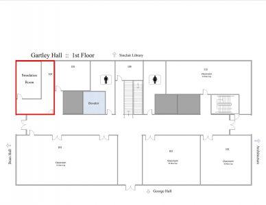 Gartley Hall - 104 Map