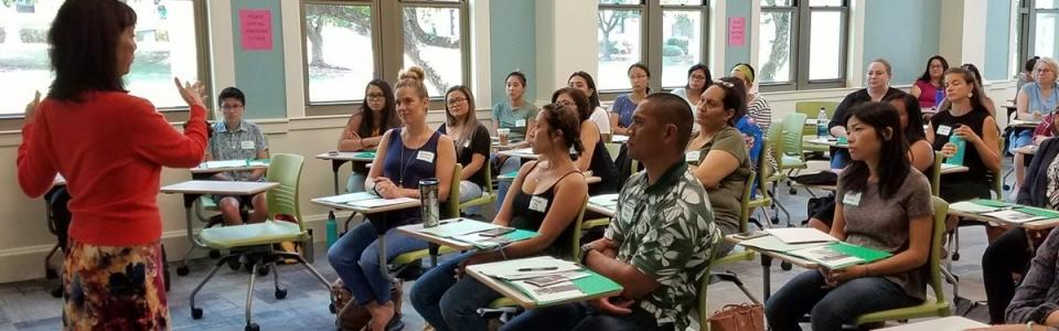 Professor addressing students