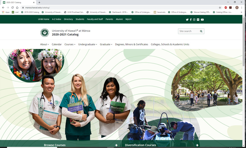 2020-21 Manoa Catalog