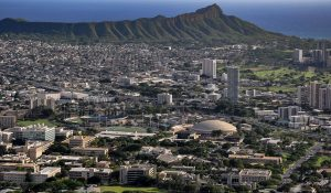 Birds Eye View Of University Of Hawaii At Manoa Lower Campus