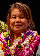 University of Hawaii at Manoa Chancellor's Award for Outstanding Service awardee Gina Bagarino