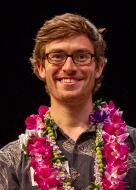 UH Manoa Student Excellence in Research Award awardee Sam Grunblatt