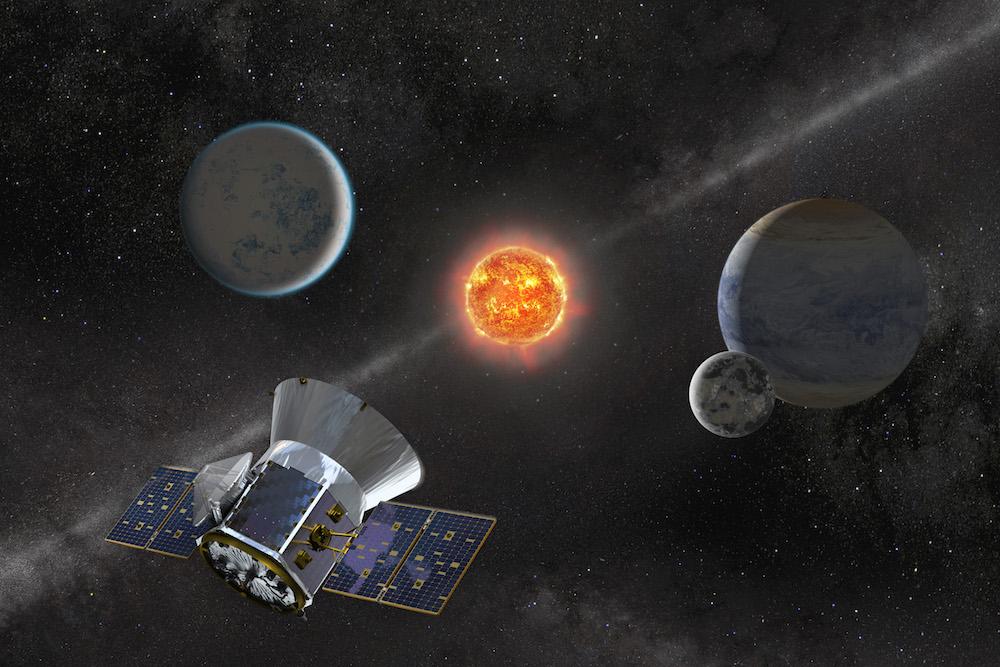 Artist's impression of NASA's TESS. (Image credit/copyright: NASA/GSFC)