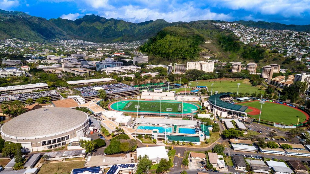 The University of Hawaii at Manoa lower campus