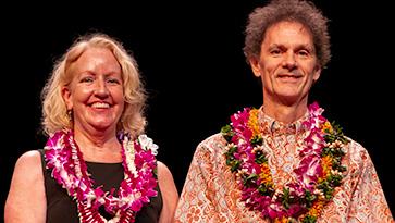 Pakela Award winners Priscilla Faucette and Kenton Harsch