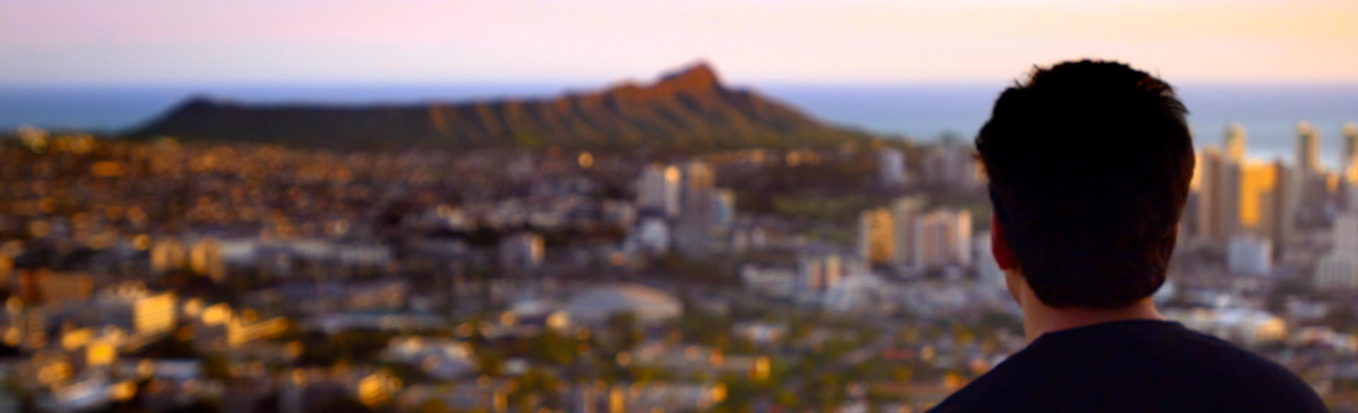 View of Diamond Head from the UH Mānoa campus