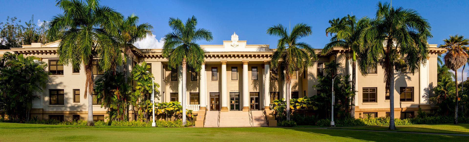 Hawaii Hall from Quad