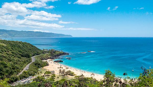 View of Waiamea Bay from the Pupukea hillside